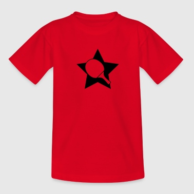 Table tennis paddle star - Teenage T-shirt