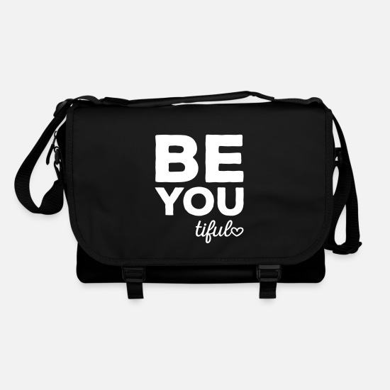 Slogan Borse & Zaini - Be-You-Tiful Positive Quote - Borsa a tracolla nero/nero