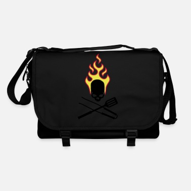 fire_skull_cook_112011_g_3c - Shoulder Bag