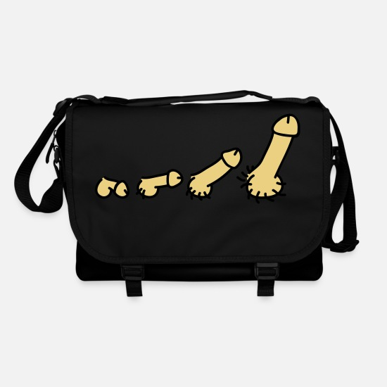 Hair Bags & Backpacks - penis_evolution_2c - Shoulder Bag black/black
