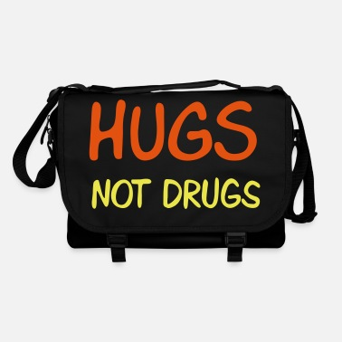 Omfavnelse hugs not drugs - Skuldertaske