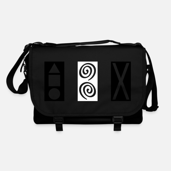 Power Bags & Backpacks - Rectangle GEO SPIRAL X - Shoulder Bag black/black