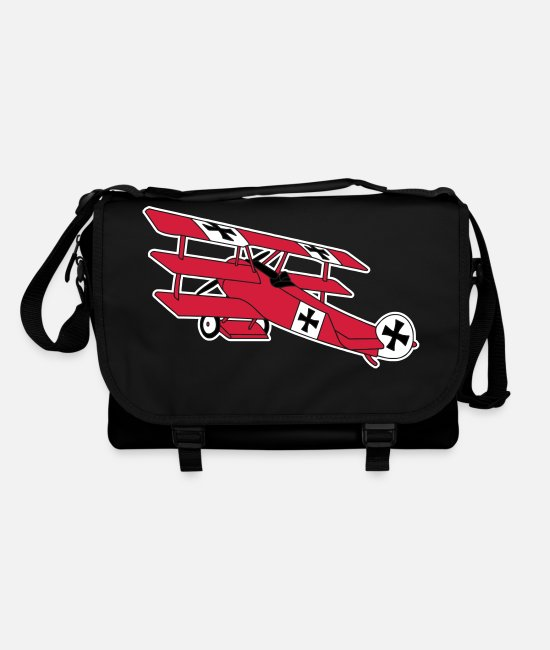 Fighting Bags & Backpacks - Fokker Airplane Flugzeug Roter Baron Red World War - Shoulder Bag black/black