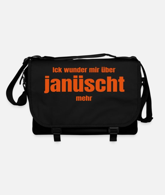 Mood Bags & Backpacks - Berlin Berlinish Ik januescht Funny saying - Shoulder Bag black/black