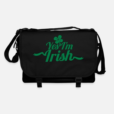 Irish Sports Yes, I'm IRISH with a shamrock for ST PATRICK's - Shoulder Bag