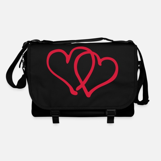 Heart Bags & Backpacks - Heart Love - Shoulder Bag black/black