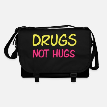 Hengivenhed drugs not hugs - Skuldertaske