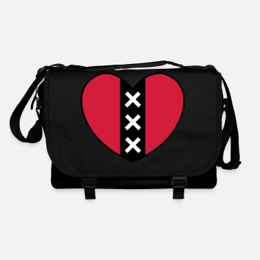 Pink Heart with the symbol of the city of Amsterdam - Shoulder Bag