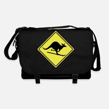 Snow roadsign kangaroo - Shoulder Bag