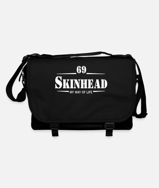 Skinhead Bags & Backpacks - Working Class Skinhead Oi! Antiracist Bootboys My - Shoulder Bag black/black