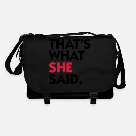 Love Bags & Backpacks - That s what she said! - Shoulder Bag black/black