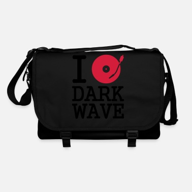 Motto I dj / play / listen to dark wave - Schoudertas