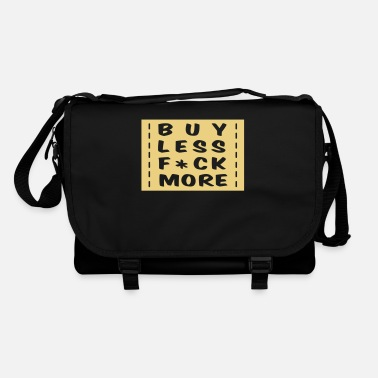 Shopping buy less fuck more 1 - Borsa a tracolla
