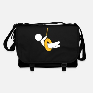 Children S Room Child On A Swing - Shoulder Bag
