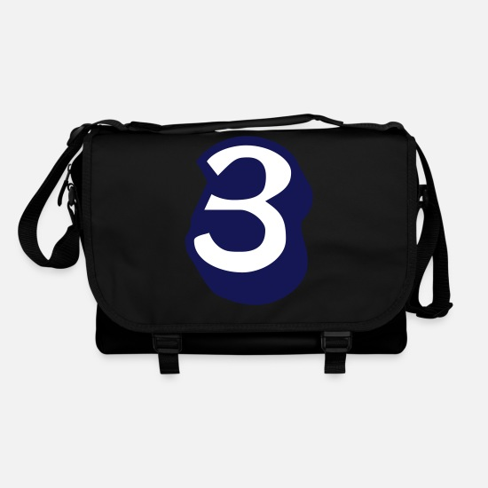 Most Loved Cool Numbers Vector Design For Favorite Number Clothes Cool Gym T Shirts Bags & Backpacks - ★Cool Number Three 3-Best Jersey Uniform Number★ - Shoulder Bag black/black