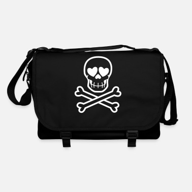 Eros & Thanatos Skull and Crossbones by Cheerful - Shoulder Bag