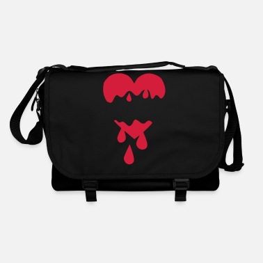 Blood Drop Heart torn blood drop - Shoulder Bag