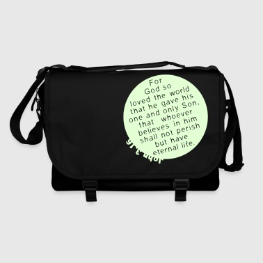 Bible Quote John 3.16 - Shoulder Bag