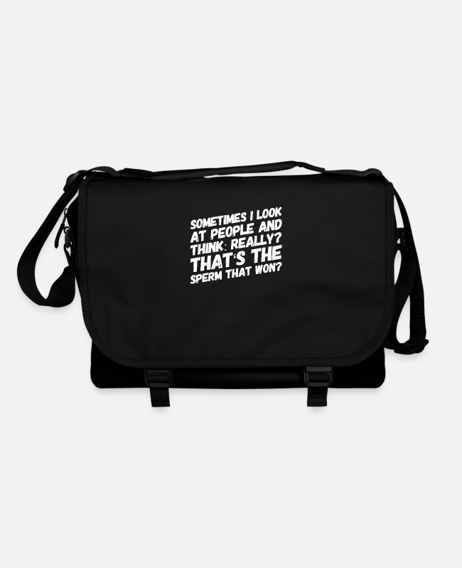 English Bags & Backpacks - you are not the brightest candle - Shoulder Bag black/black