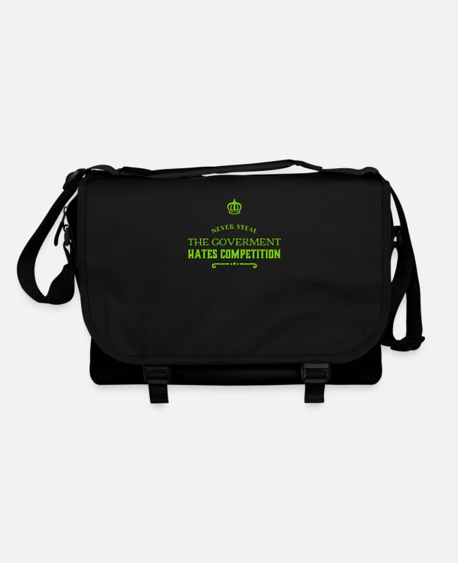 English Bags & Backpacks - the government doesn't like competition - Shoulder Bag black/black