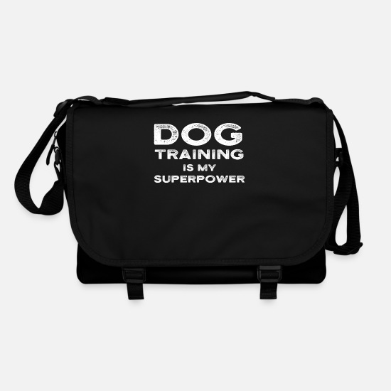Training Bags & Backpacks - Dog Training Is My Superpower Funny Dog Trainer - Shoulder Bag black/black
