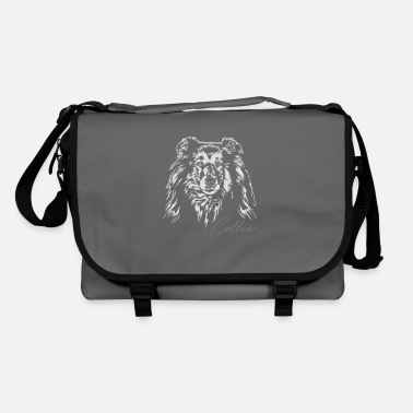 Long-haired Long-haired Herd Dog Long hair COLLIE dogs dog Wilsigns dog portrait - Shoulder Bag