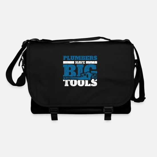 Gift Idea Bags & Backpacks - plumber - Shoulder Bag black/black