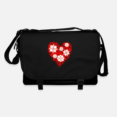 heart floral - Shoulder Bag