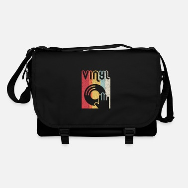 Song Vinyl Record Product. Retro Style Print - Shoulder Bag