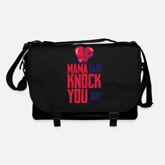 Kickboxing Bags & Backpacks - MAMA SAID KNOCK YOU OUT - Shoulder Bag black/black
