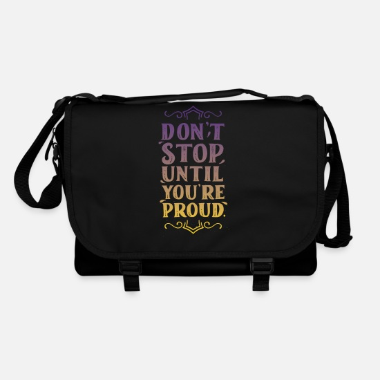 Stop Bags & Backpacks - dont stop - Shoulder Bag black/black
