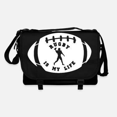 Rugby rugby is my life - Bolso de bandolera