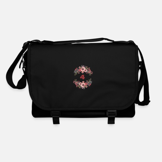 Birthday Bags & Backpacks - 4th birthday - Shoulder Bag black/black