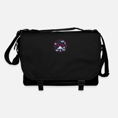Drawing Painting Symbol Japanese drawing hand painted - Shoulder Bag