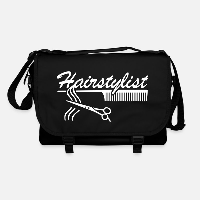 Stylist Bags & Backpacks - hairdresser Barber   - Shoulder Bag black/black