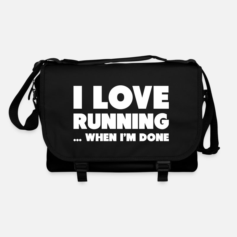 Sports Tassen & rugzakken - I Love Running... When I'm Done - Schoudertas zwart/zwart