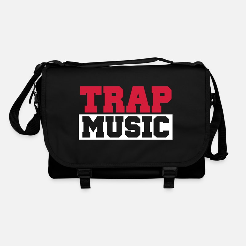 Club Bolsas y mochilas -  TRAP MUSIC - BASS PARTY - Bandolera negro/negro