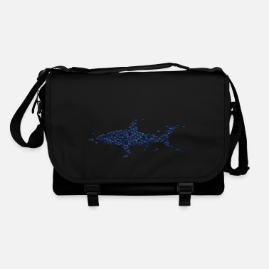 Shape Shark Funny Fish defense strategy - Shoulder Bag