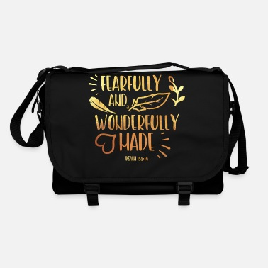 Religious Fearfully And Wonderfully Christian Religious - Shoulder Bag