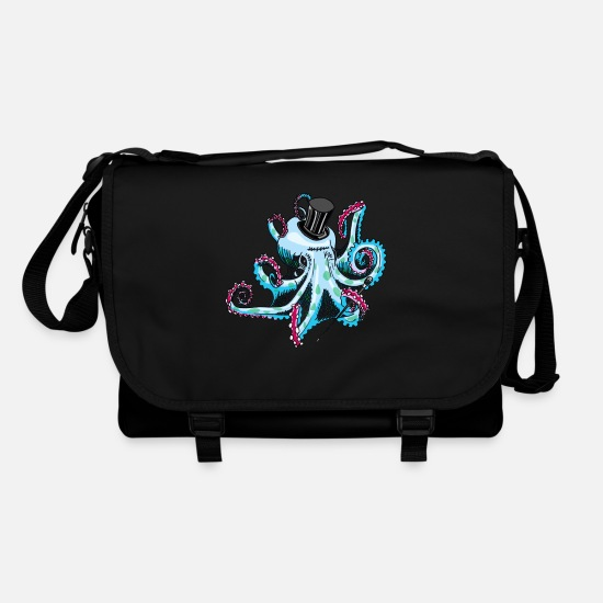 Chic Bags & Backpacks - gentleman octopus blue - Shoulder Bag black/black