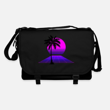 Purple 80s Sunset - Shoulder Bag