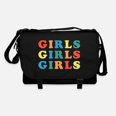 Girlie Girls Girls Girls Feminist Quote - Sac bandoulière