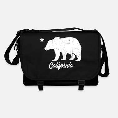 Californie California Bear Vintage Blanc - Sac bandoulière