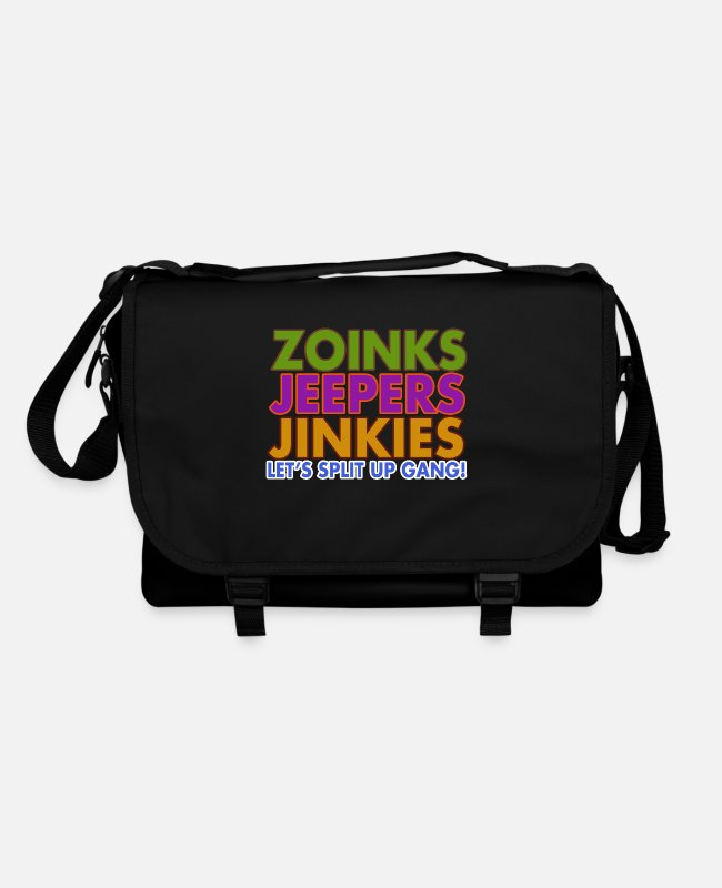 Cartoon Character Bags & Backpacks - Zoinks Jeepers Jinkies! Let's split up gang! - Shoulder Bag black/black