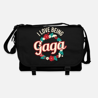 Lady I Love Being Gaga Tshirt Design Floral Flower - Shoulder Bag