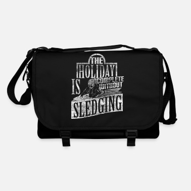 Bobsleighing Sledding tobogganing winter sports - Shoulder Bag