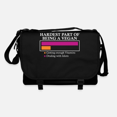 Vegan Idiots Vegan is difficult to deal with idiots - Shoulder Bag