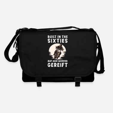 Mature Motorcycle gift biker saying Born in the 60s - Shoulder Bag