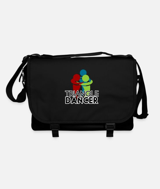 Dancing Bags & Backpacks - Triangle dance trend dancer - Shoulder Bag black/black