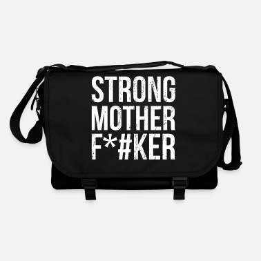 Helm Strong Mother F*cker Fitness gym Workout Geschenk - Umhängetasche